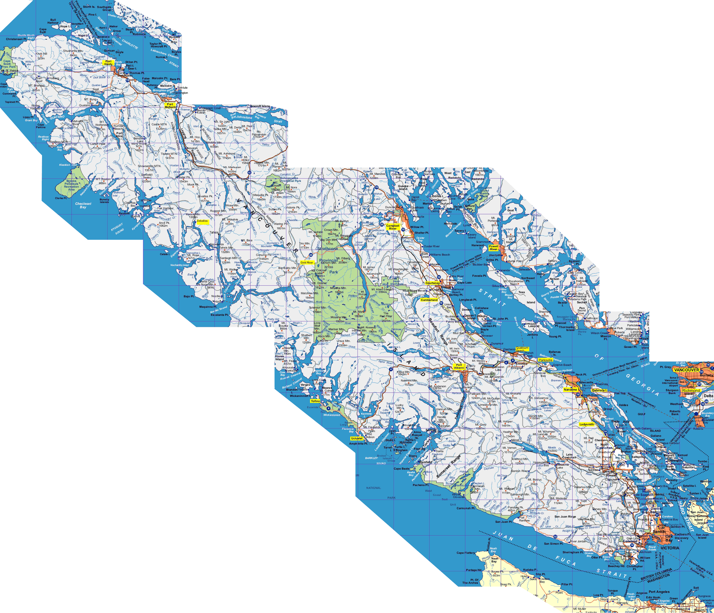 Bc Parks Vancouver Island Map