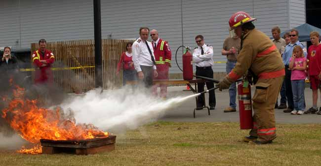 North Cedar Fire Department Extinguisher Demonstration