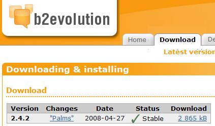 b2evolution v2.4.2 palms