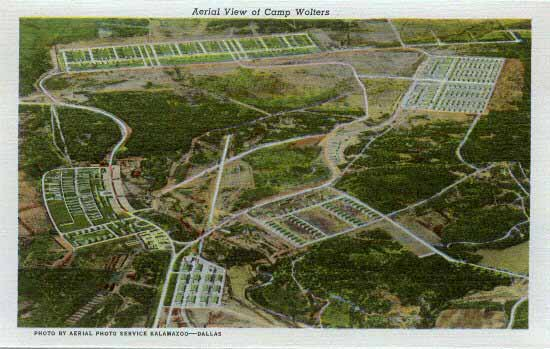 aerial view of camp wolters, mineral wells texas