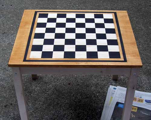 svala checkerboard: applying the stain