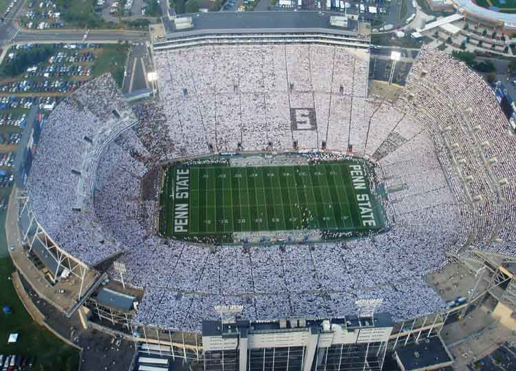 beaver stadium white out penn state vs notre dame 2007