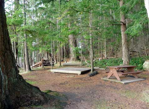 Pirates Cove Marine Park Campground, DeCourcy Island, British Columbia