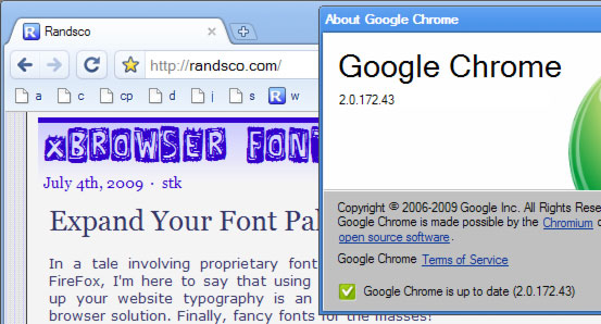 chrome supports @font-face?