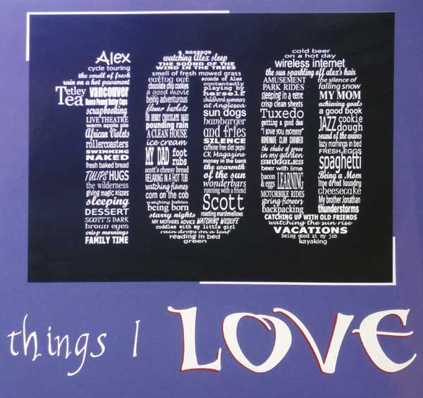 100 Things I Love by Rachel