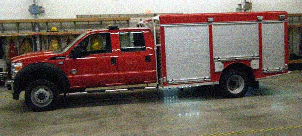 north cedar fire hall gets a new rescue vehicle