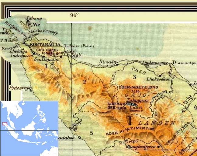 northern Sumatra map
